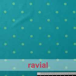 TABLAO. Knit fabric. Normally used on rehearsal skirts. Polka dot 1cm diameter (approx.) print.