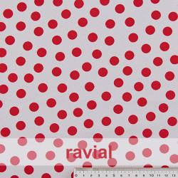 BASICO STRECH EST. BULERIA PQ. Polyester fabric. Small polka dot print 1,30 cm