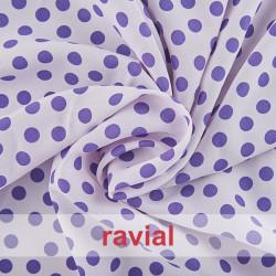 BASICO STRECH EST. BULERIA PQ. Tissu en polyester. Imprimé à pois fins 1,30 cm.