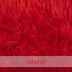 ANIMALIA CAYUS. Tissu en fourrure synthétique poils longs et doux.