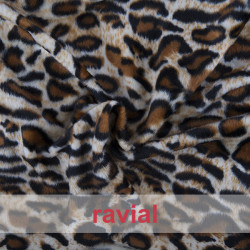 ANIMALIA RENO. Short fur fabric. Animal print. OEKO-TEX Standard 100