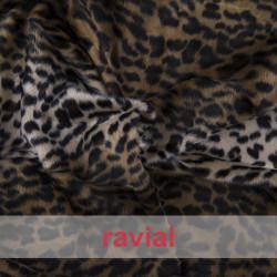 ANIMALIA RENO. Article en fourrure synthétique poils courts.Imprimé animal. OEKO-TEX Standard 100