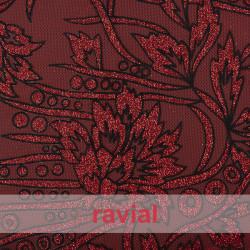 TUL IBIS. Tulle fabric with glitter print.
