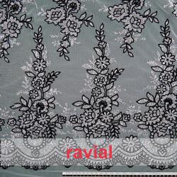 TUL TENERIFE. Tulle fabric with glitter ornaments.