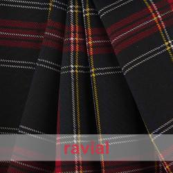 BASICO STRECH EST.  ESCOCES. Polyester fabric. Scottish print.