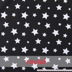 BASICO STRECH ESTP. Tissu en polyester imprimé.
