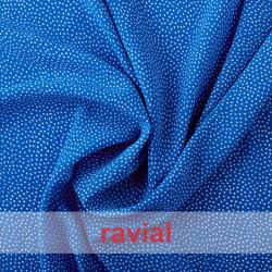 NATASHA. Crespón con mucha caída, perfecta para trajes de flamenca. Estampado lunares pequeños de 0,20 cm.