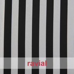 BASICO STRECH EST. LISTA. Tissu en polyester imprimé à rayures de 2 cm.