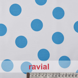 BASICO BULERIA TOPO-GR. Cotton fabric with big polka dot print 3,60 cm.