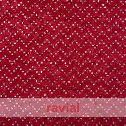VELVET MARTELE HOLO. Tissu en velours élastique hologramme. OEKO-TEX Standard 100