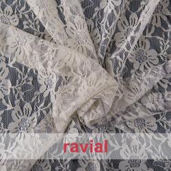 BLONDA SOLBES. Stretch lace fabric.