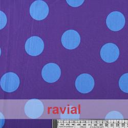 BASICO BULERIA T/G BICOLOR. Cotton fabric with big polka dot print 3,70 cm.