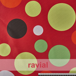 BASICO RUA. Satinet fabric. Polka dot print.