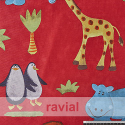 BASICO RUA. Satinet fabric. Animal print.