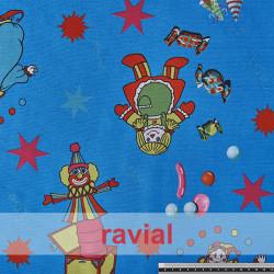 BASICO RUA. Satinet fabric. Toys print.