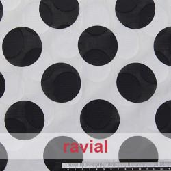 LIVIA EST. Tissu dévoré et imprimé en coton.