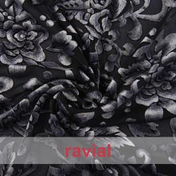SALOMON. Devorated chiffon fabric.