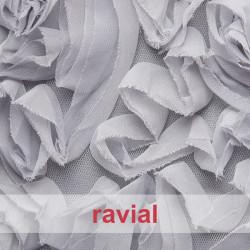 FIESTA TAMPERE. Chiffon fabric with ribbon ornaments.