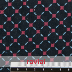 POPPY 191. Tissu en velours côtelé imprimé.