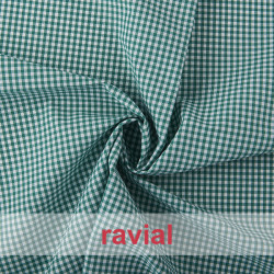 CHECK 3 mm. Tissu vichy 3 mm.