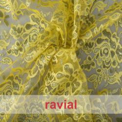 BLONDA ARABIC. Shinny lace fabric.
