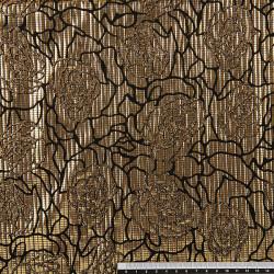 FANTASIA YLENIA. Tissu en jersey lamé avec motif à paillettes.