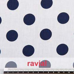 HARU. Tissu imprimé en coton.
