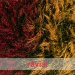 KANPUR. Colored soft and long fur fabric.
