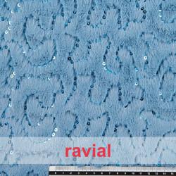 POPPY 210. Tissu en fourrure synthétique poils avec fils métallique.