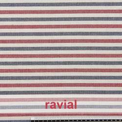 AZOV. Tissu en coton à rayures verticales.