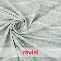 ISABA. Horizontal striped fabric.