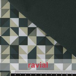 POPPY 206. Tissu imperméable réversible avec fourrure élastique poils courts
