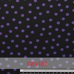 TABLAO. Knit fabric. Normally used on rehearsal skirts. Polka dot 1 cm diameter print.