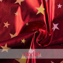 FANTASIA ACKBAR. Lurex fabric with print stars.
