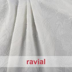 SUEZ. Stretch fabric with metal thread.