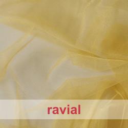 FIESTA ZAFIRO. Stretch organza fabric, shinny and soft.
