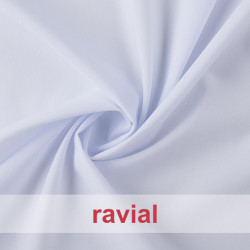 ROBLE LISO-BLANCO-CRUDO. Thin polyester and cotton fabric.