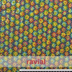 FROS. Tejido de tul adornado con lentejuelas de colores.