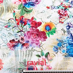 ESTEPONA. Drape soft fabric with floral print.
