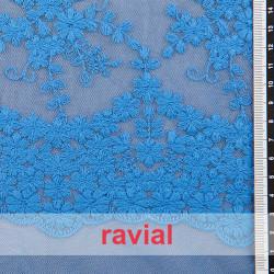 MALAGA. Embroidered elastic tulle fabric.