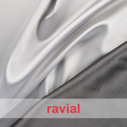 JUNO. Reversible fabric with spandex: Shantung fabric/ satin.
