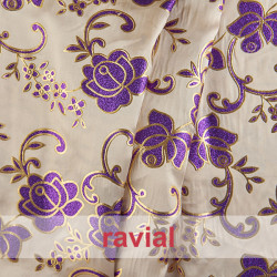 EPOCA SATIPRING. Satin fabric with glitter ornaments.