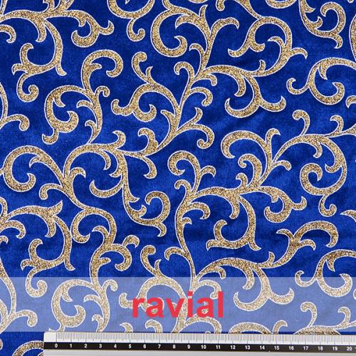 EPOCA CLEOPATRA. Velvet fabric with glitter ornaments.