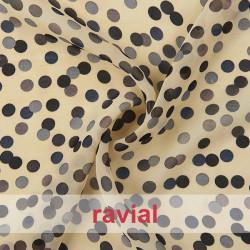 YOSA. Printed chiffon fabric.