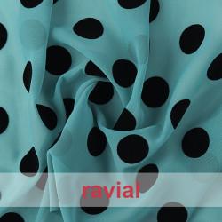DRAVA FLOCADO. Thin chiffon flocked fabric.