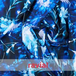 DANZA ZUMBA. Knitted fabric with printed leaves. OEKO-TEX Standard 100