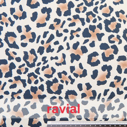 DANZA ZUMBA. Knitted fabric with leopard print. OEKO-TEX Standard 100