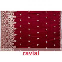 EPOCA PELAYO. Velvet fabric embroidered with golden thread and sequins.