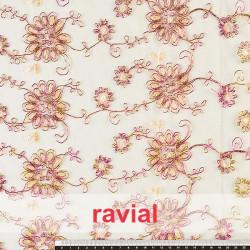 FANTASIA LYA. Embroidered tulle fabric.