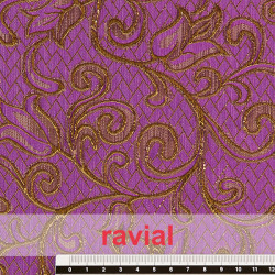 EPOCA PEDRAZA. Polyester fabric with metallic thread.